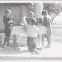 Children Building Native American Houses
