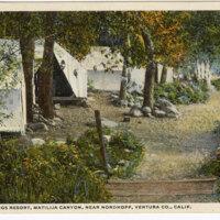 Lyon Springs Resort, Matilija Canyon, Near Nordhoff, Ventura, Co., Calif. postcard