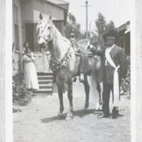 Baltazar Ruiz with Horse