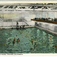 Ventura Bath House postcard