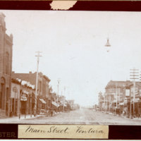 Main and Oak Streets, Ventura, 1896