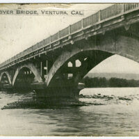 Ventura River Bridge, 1918 postcard