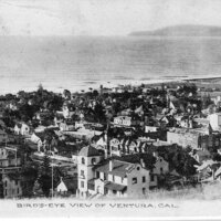 Bird's-eye View of Ventura post card