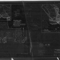 Negative Map of Hueneme Harbor, California, 1936