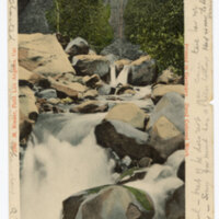 Matilija Hot Springs, Cal. 1905 postcard