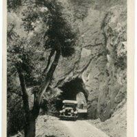 Tunnel, Wheelers Hot Springs postcard