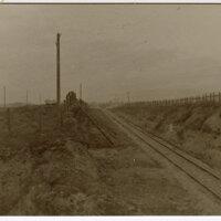 Southern Pacific Railroad Cut Near Somis, 1904