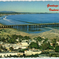 Greetings from Ventura postcard