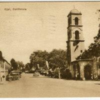 Ojai Avenue, Ojai, California 1930 postcard