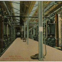 Boiler Room, Oxnard Sugar Factory postcard