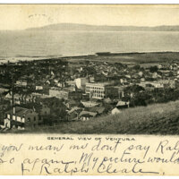 General View of Ventura, 1906 postcard