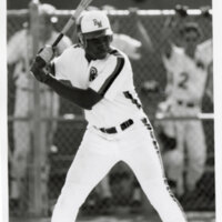 Dmitri Young, in the Oxnard Rio Mesa High School Baseball Team Uniform