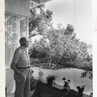 Max Riave Looking at His Garden