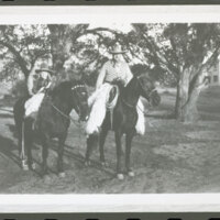 Katherine L. Hoffman and Walter H. Hoffman, Jr. on Horseback at Rancho Casitas