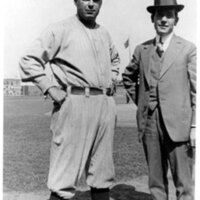 Charles Hall with Manager of the Boston Red Sox