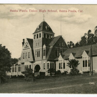 Santa Paula Union High School postcard