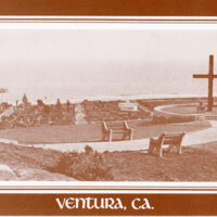 Father Serra's Cross on Hill Overlooking Ventura postcard