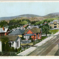 Center of Ventura postcard