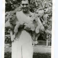 Clark Gable with Lion Cubs