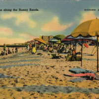 Bathing Supreme along the Sunny Sands, Oxnard postcard