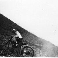 Motorcycle and Rider, Santa Barbara Motorcycle Club Hill Run