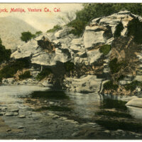 Overhanging Rock postcard