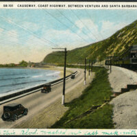 Highway 101 and Causeway Postcard
