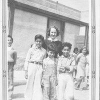 Group Photo, Three Boys With Teacher