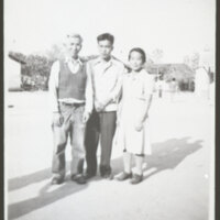 Frank & Tono Takasugi With Son Thomas, 1943
