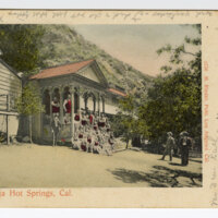 Matilija Hot Springs, Cal. 1905 postcard