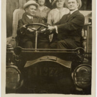 Untitled, (Group photo of Adolfo Camarillo, Isabel Camarillo, Laura Donlon and Charles Donlon) Post Card