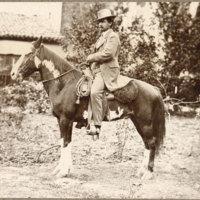 Dr. Cephas L. Bard on horseback