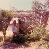 Young woman at San Buenaventura Mission Aqueduct