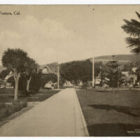 Plaza - Ventura, Cal. Post Card
