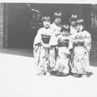 Young Girls Wearing Kimonos
