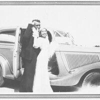 Dolores Villa and Pedro Reyes Leaving on Honeymoon