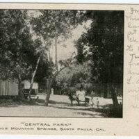 Central Park, Suphur Mountain Springs postcard