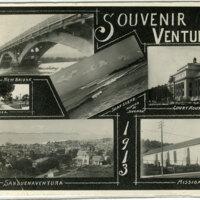 Souvenir, Ventura, Cal., 1913 Postcard