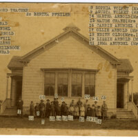 Group Photo Outside Oxnard Ocean View School sepia