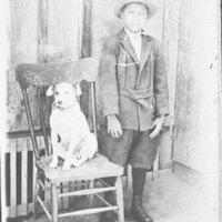 Arnulfo Sanchez as a Boy with Dog