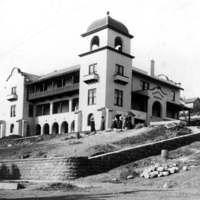 Elizabeth Bard Memorial Hospital under construction