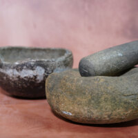 Mortar and Pestle with Cooking Bowl