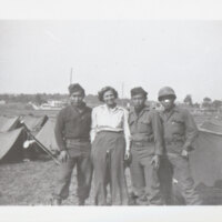 John, George & Leonard Takasugi in Army Camp