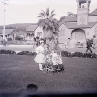 Children and baby carriage