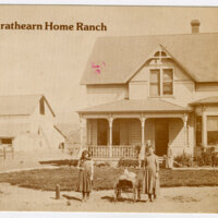 R.P. Strathearn Home Ranch postcard