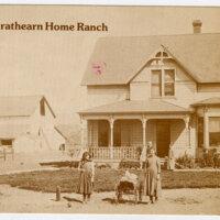 R.P. Strathearn Home Ranch postcard