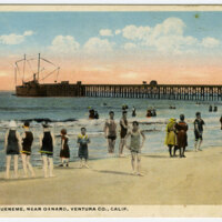 Bathing at Hueneme postcard