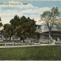 High School, Nordhoff color postcard