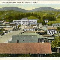 Bird's-eye View of Ventura postcard