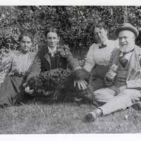 Brewster Family Portrait on Lawn